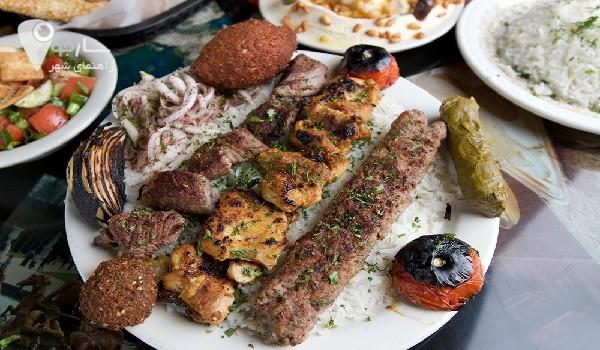 نمونه غذای رستوران های شیراز