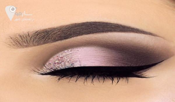 بهترین آرایشگاه شیراز   آرایش چشم زنانه