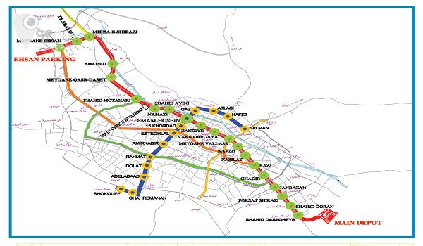 ارائه توصیه های ایمنی برای استفاده از مترو شیراز