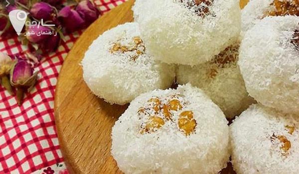 باسلوق سوغات مراغه و یک شیرینی بدون فکر است. تزیین شیرینی خانگی عید را در سارجو بیاموزید.