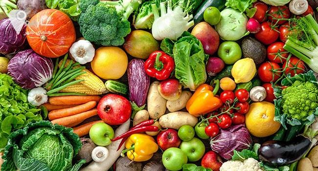 مصرف سبزیجات و میوه جات تازه خاصیت های بیشماری برای بدن شما دارد