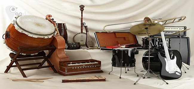 آلات موسیقی برای نواختن انواع موسیقی کاربرد دارد.