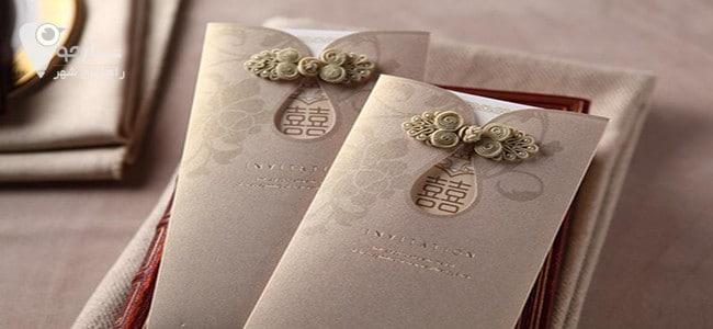 کارت عروسی باید اطلاعات دقیق و مکان عروسی را در بر گیرد