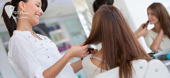 مدل کوتاهی مو را با مشورت با آرایشگر انتخاب کنید.