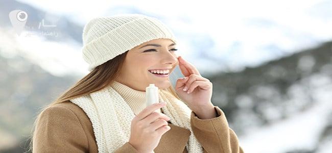 ضدآفتاب در سرما