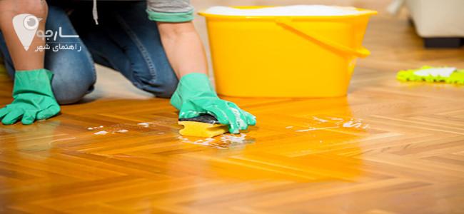 تمیز کردن کفپوش چوبی