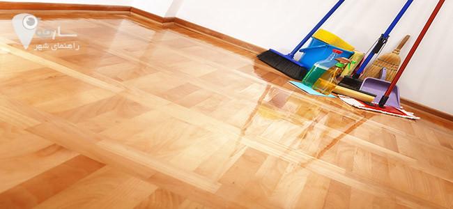 راهنمای تمیز کردن کفپوش چوبی