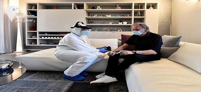 مراقبت از بیمار کرونایی در منزل