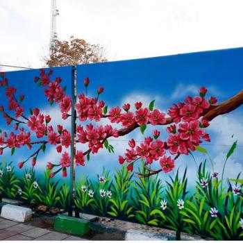 نقاشی وطرح های فانتزی روی دیوارشیراز